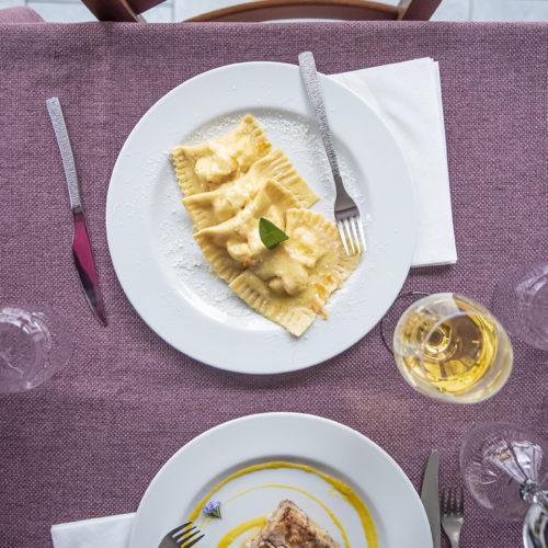 ravioli e lasagna